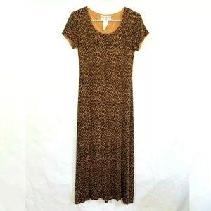 Jessica Howard Leopard Print Glitter Dress